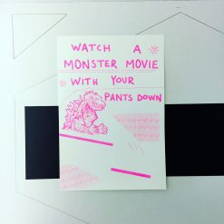 monster movie risograph print
